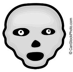 Spooky Halloween Skull Face Drawing