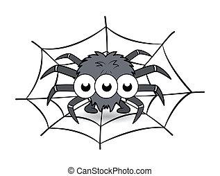 Spooky Halloween Spider Vector