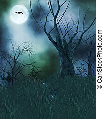Spooky Haunted Background - Spook haunted background