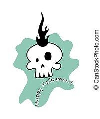 Halloween Skull Face Vector
