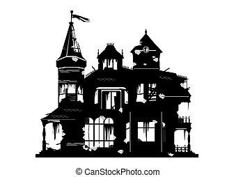 Spooky house.