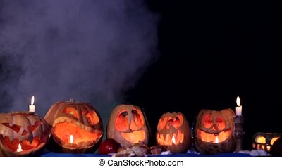 Spooky Little Ghosts Scaring And Frightening At Halloween -...