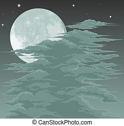 Spooky moonlit sky background