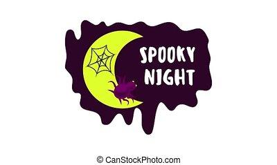 Spooky night logo animation best object on white background
