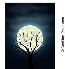Spooky night scene.