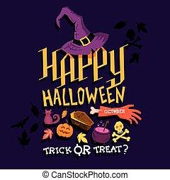 spooky, nuit sorcières parti