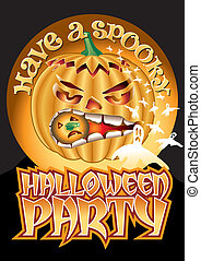 Spooky Party Pumpkin