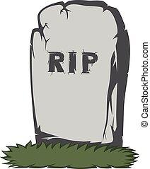 spooky, pierre tombale