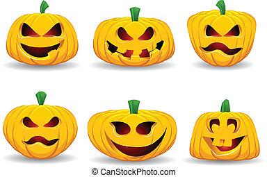 Spooky pumpkins - A collection of spooky Halloween pumpkins