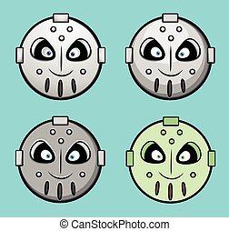 Spooky Robotic Smiley Set