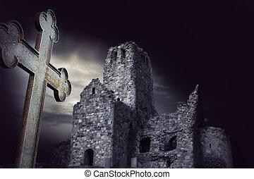 spooky, ruína