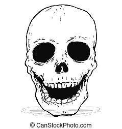 spooky skull drawing