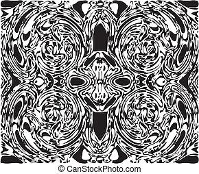 Spooky Skull Face Between Vortex