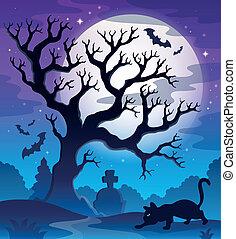 Spooky tree theme image 2