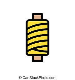 spool  flat color icon
