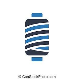 spool  glyph color icon