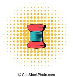Spool of thread icon, comics style