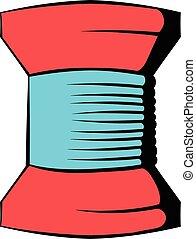 Spool of thread icon, icon cartoon
