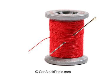 Isolated spool of thread