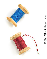 spool of thread on white background