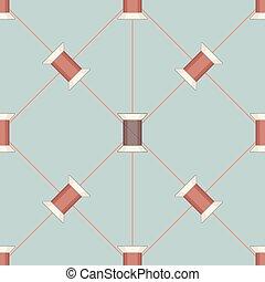 Spool of thread texture seamless pattern.