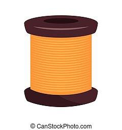 spool of thread knit. sewing equipment vector illustration