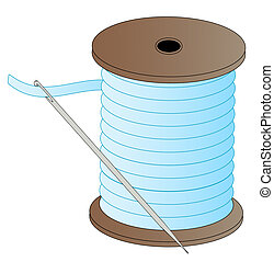 spool of thread with needle