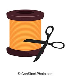 spool of yellow thread