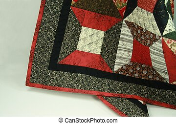Spool Quilt Border - spool quilt border detail in red and...