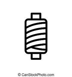 spool thin line icon