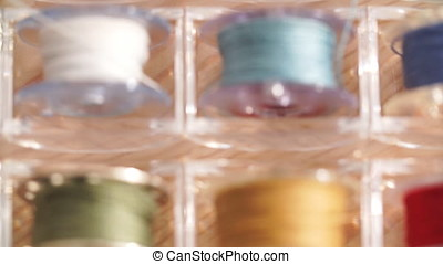 Spool thread for sewing machine assorted colors. - Spool...
