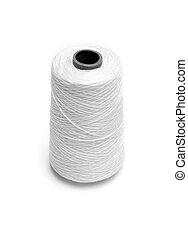 spool white thread on white background