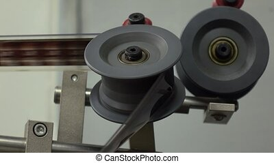 Spools of professional film cinema projector, 4K video, part of set
