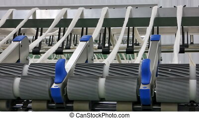spools of thread at a textile factory - Machinery and ...