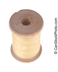 spools of thread on a white background