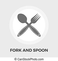 Spoon and Fork Flat Icon