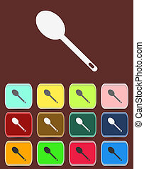 Spoon emblem - Vector icon isolated