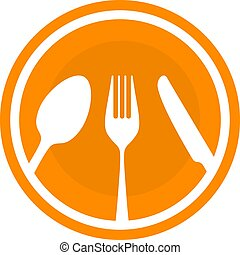 Spoon fork and knife besteck. flat style Vector illustration
