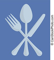 spoon fork knife cutlery emblem image