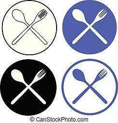 spoon fork set icon