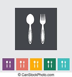 Spoon, fork.