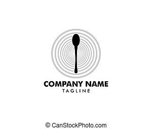 Spoon icon vector logo illustration