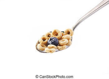 Spoon of oat cereal
