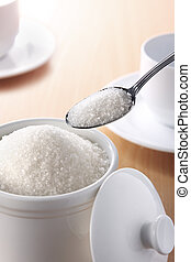 spoon of sugar - A teaspoonful of sugar for your coffee or ...