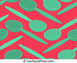 Spoon seamless pattern. Cutlery texture background ornament