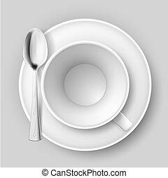 spoon., vuoto, tazza