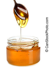Spoon with honey