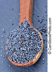Spoon with poppy seeds
