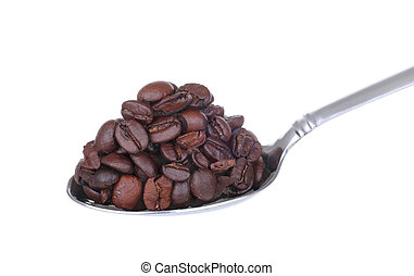 Spoonful of Coffee Beans