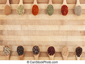 spoons of spices frame